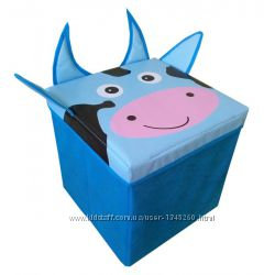 Детский пуф 3 в 1 корзина, ящик для игрушек Собака Украина 404040 см