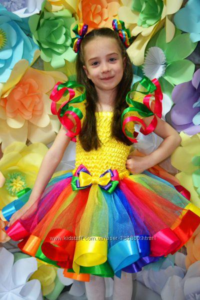 Платье, костюм радуги, веселки