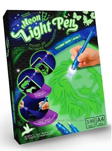 Рисуй светом - набор креативного творчества neon light pen