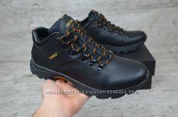 Ботинки  ECCO 130 Sport низкие Кожа Black 40-45рр