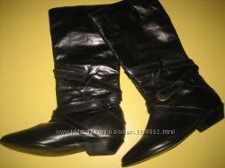 нові шкіряні жіночі чоботи
