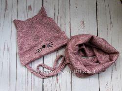 шапка зима девочке ангора девочке
