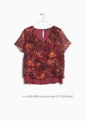 Женская блуза от испанского бренда Mango  Сток из Европы, нюанс, xs