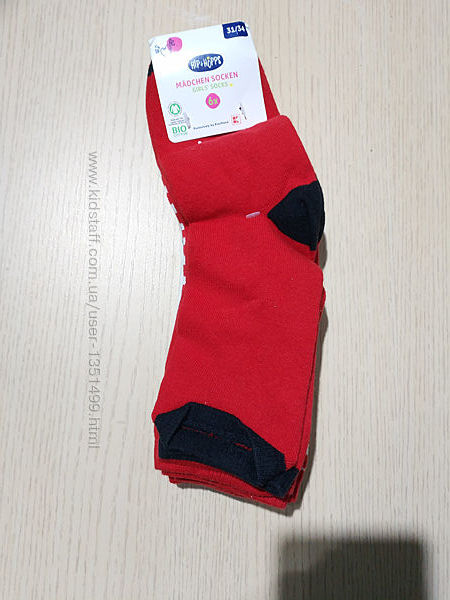 Набор 6- пар детские носки  размер 31-34 немецкого бренда Hip&Hops