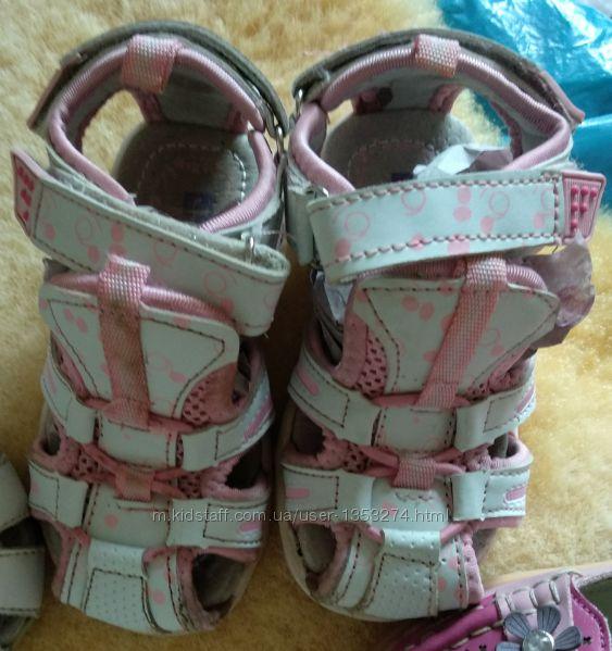 Босоножки, сандали на девочку 23р. стелька 14,5см