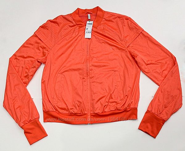 Красивая оранжевая куртка-ветровка от Benetton,