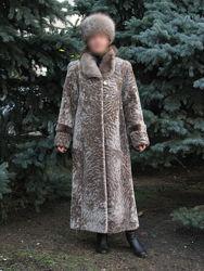 Мутоновая шуба с нерпой р.48/50