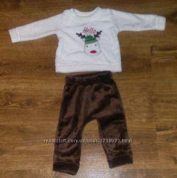 Очень мягкий плюшевый костюм на 1 - 1, 5 года 80-86 Flamingo