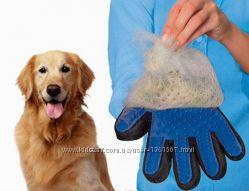 Перчатка для животных TRUE TOUCH для вычесывания шести собак и кошек