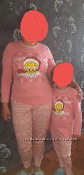 Набор пижам для мамы и дочки Новый