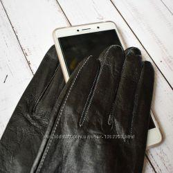 Элегантные  женские сенсорные кожаные перчатки