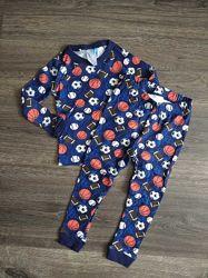 Пижама хлопок до длинного рукава, размер 18мес