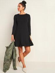 Черное платье свободного кроя Old navy, размер XS