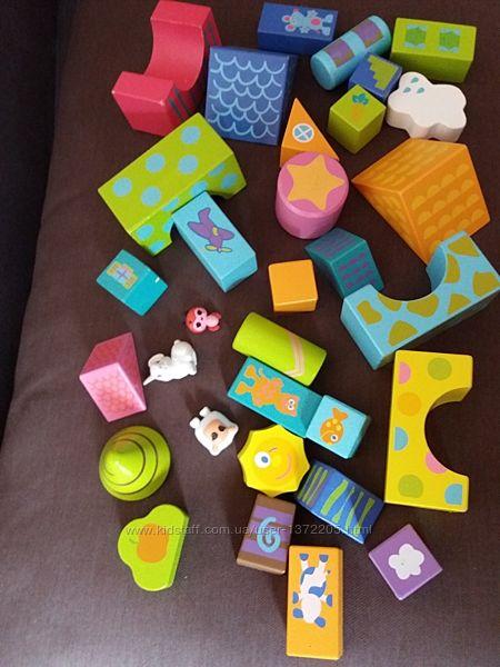 экологически чистые  кубики Boikido конструктор деревянные