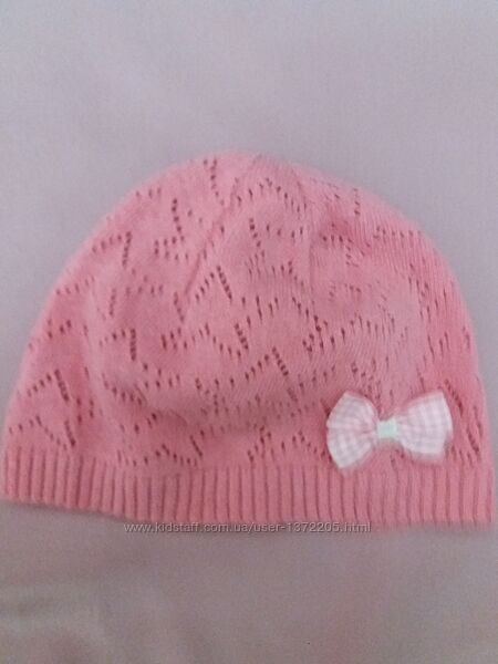 шапочки для девочек демисезонные