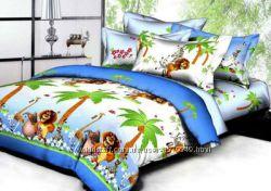 Подростковое полуторное постельное белье Viluta ранфорс Мадагаскар
