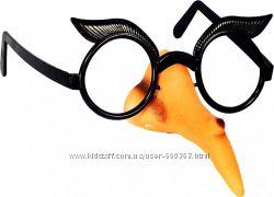 Нос с очками  Баба Яга Черно-бежевые Seta DEKOR