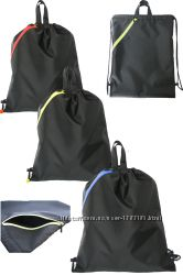 Сумка-рюкзак для спорта, фитнеса, чёрный с цветными змейками