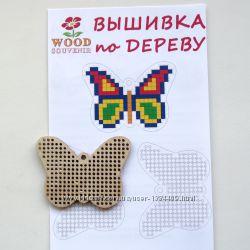 Заготовка деревянная для вышивки и    схема
