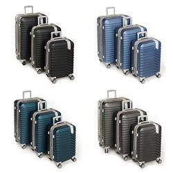 Комплект из трех чемоданов из ударопрочного ABS пластика