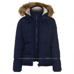 Фирменная женская куртка SoulCal 2 Zip Bubble, Англия