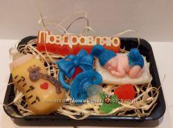 Подарочный набор мыла ручной работы подарок рождения ребенка