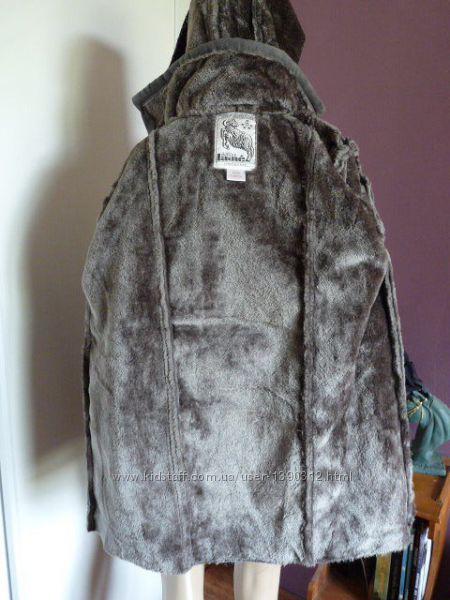 Теплая дубленка франция бренд b&eacutelier lain натуральная шерсть барашка