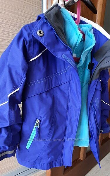 Columbia курточка с флисовой кофтой в отличном состоянии