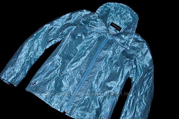 Куртка Betty Barclay демисезон ветровка голубая блестящая эксклюзив бренд
