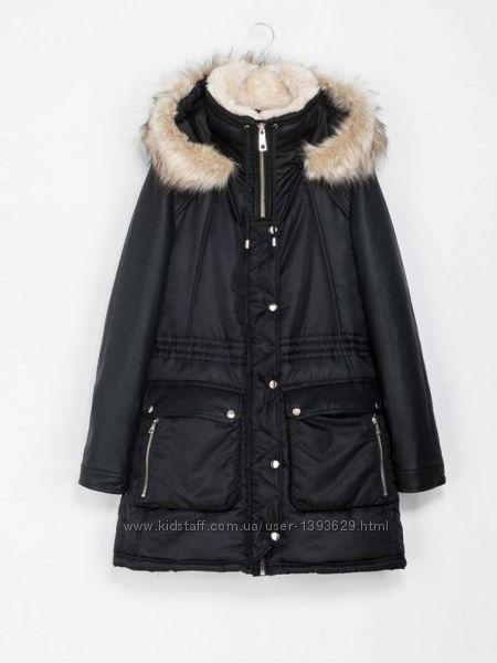 Черная парка ZARA есть нюансы зимняя куртка капюшон отстегивается