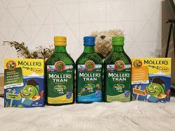 Mollers tran omega-3 250 мл/рибки 36 шт