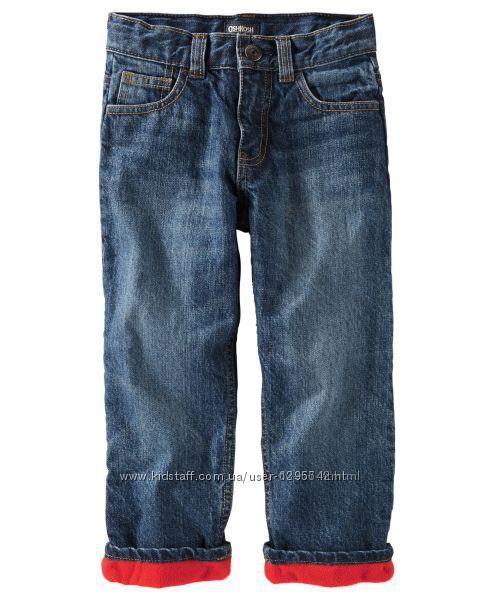 Утепленные джинсы на флисовой подкладке для мальчика OshKosh 2T, 3T