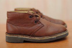 Детские кожаные коричневые ботинки Clarks. 22, 5 размер. Оригинал