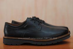 Черные кожаные мужские туфли Clarks Gore-Tex, кларкс. 42, 5 размер. Оригинал