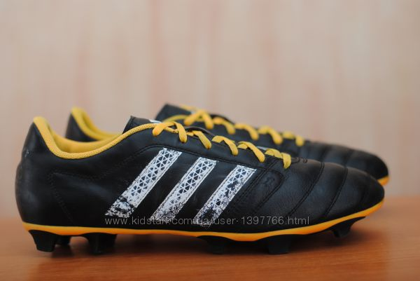 Черные кожаные футбольные бутсы Adidas Gloro 162 FG, адидас. 45 - 46 размер