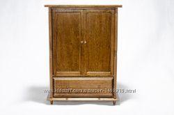 Шкаф бельевой деревянный для домика в миниатюре