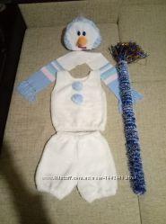 Карнавальные костюмы снеговика, зайца, медведя, лимона, жука-паука, тыквы,