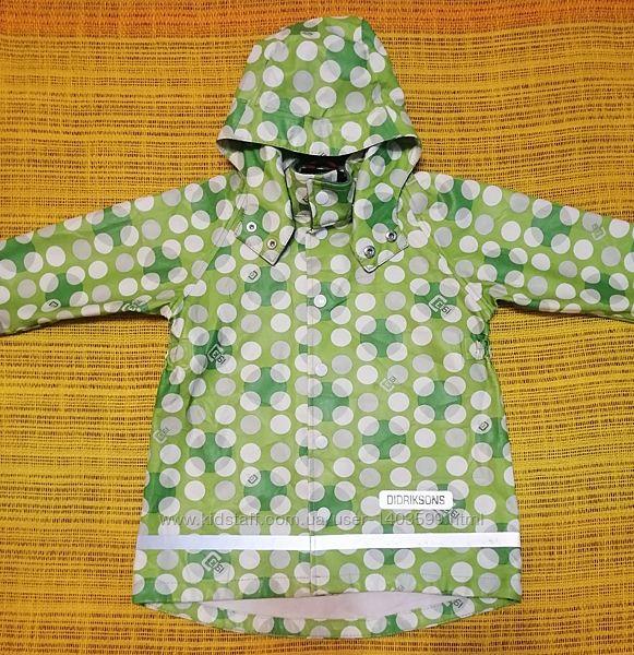 Куртка - дождевик Didriksons, рост 90 см, девочка 2-3 года