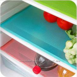 Антибактериальные коврики для холодильника 45x29 см 4 шт