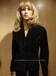Пиджак черный натуральный замш S.