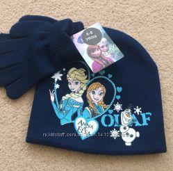 Шапка и перчатки для девочки Холодное сердце