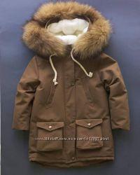 Зимняя теплая куртка на рост 80-134см