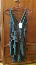 Новое темно коричневое платье H&M размер  С/М