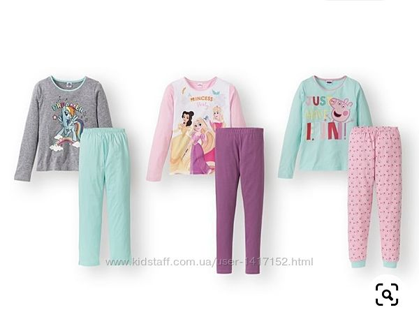 Пижамы для девочки, Lidl, германия