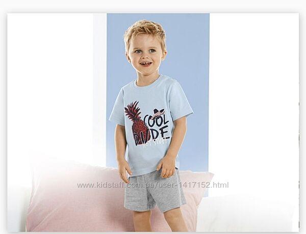 Летний комплект, футболка, шорты, lupilu
