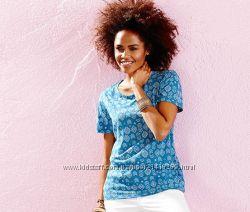 Яркая женская футболка  Tchibo Германия, 36-38р евро, см. замеры