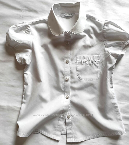 Школьная блуза M&S на девочку рубашка школьная