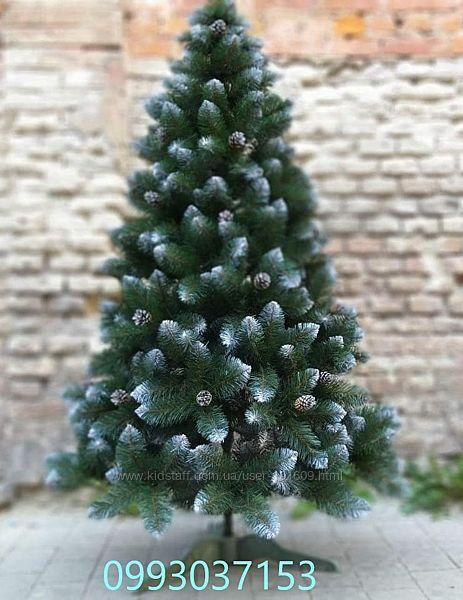 Искусственная зеленая елка Лесная Королева с шишкой ПВХ