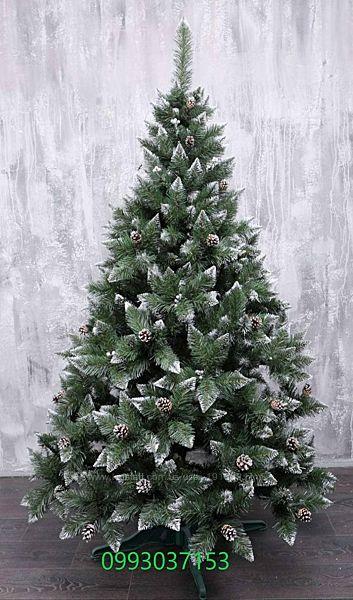 Искусственная зеленая елка Премиум с шишкой ПВХ