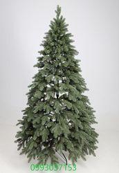 Искусственная зеленая елка Аляска литая